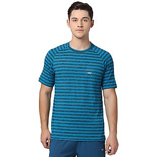 Wildcraft Men Active Striped Crew Neck T-shirt