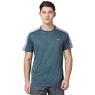 Wildcraft Men Poly Grindle Crew Neck T-shirt