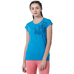 Wildcraft Women Tree Print Crew T-Shirt