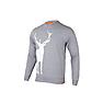 Wildcraft Men Sweatshirt Print - Stag - Light Grey Melange