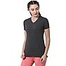 Wildcraft Women V Neck Crew T Shirt - Dark Grey Melange
